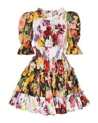 mehrfarbiges Skaterkleid mit Blumenmuster von Dolce & Gabbana