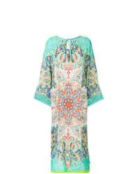 mehrfarbiges Strandkleid mit Paisley-Muster von Etro