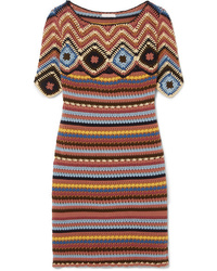 mehrfarbiges Strick gerade geschnittenes Kleid von See by Chloe