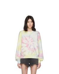 mehrfarbiges Sweatshirt mit Batikmuster