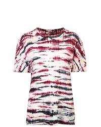 mehrfarbiges Mit Batikmuster T-Shirt mit einem Rundhalsausschnitt von Proenza Schouler