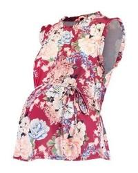 mehrfarbiges T-Shirt mit einem Rundhalsausschnitt mit Blumenmuster von mint&berry