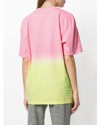 mehrfarbiges T-Shirt mit einem Rundhalsausschnitt von MSGM