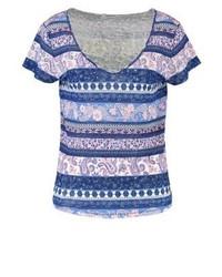 mehrfarbiges T-Shirt mit einem Rundhalsausschnitt von Pepe Jeans