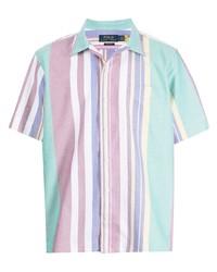 mehrfarbiges vertikal gestreiftes Kurzarmhemd von Polo Ralph Lauren
