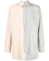 mehrfarbiges vertikal gestreiftes Langarmhemd von Lanvin