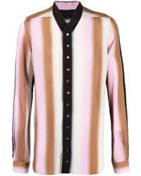 mehrfarbiges vertikal gestreiftes Langarmhemd von Rick Owens