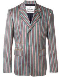 mehrfarbiges vertikal gestreiftes Sakko von Vivienne Westwood