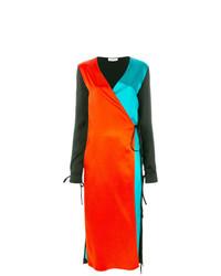 mehrfarbiges Wickelkleid von ATTICO