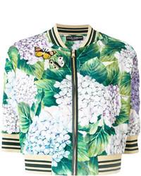 mintgrüne bedruckte Bomberjacke von Dolce & Gabbana