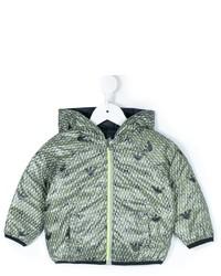 mintgrüne bedruckte Jacke von Armani Junior