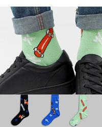 mintgrüne bedruckte Socken