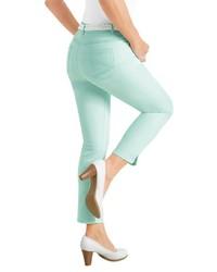 mintgrüne enge Jeans von COLLECTION L.