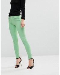 mintgrüne enge Jeans von French Connection
