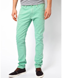 mintgrüne Jeans