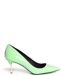 mintgrüne Leder Pumps