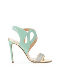 mintgrüne Leder Sandaletten von Benedetta Boroli