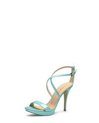 mintgrüne Leder Sandaletten von Evita