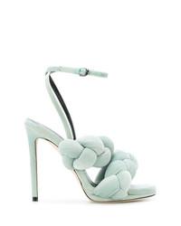 mintgrüne Leder Sandaletten von Marco De Vincenzo