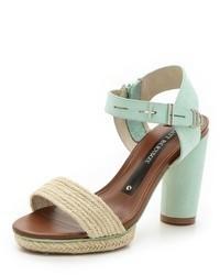 mintgrüne Leder Sandaletten von Matt Bernson