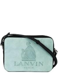 mintgrüne Leder Umhängetasche von Lanvin