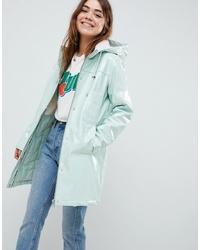 mintgrüne Regenjacke von ASOS DESIGN