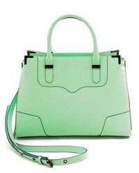 mintgrüne Satchel-Tasche aus Leder von Rebecca Minkoff