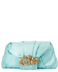 mintgrüne Satin Clutch