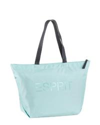 mintgrüne Shopper Tasche aus Leder von Esprit