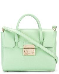 mintgrüne Shopper Tasche aus Leder von Furla