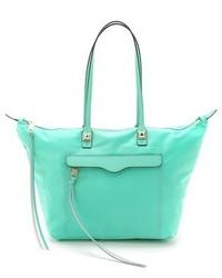 mintgrüne Shopper Tasche aus Leder von Rebecca Minkoff