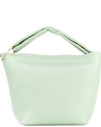 mintgrüne Shopper Tasche aus Leder von Victoria Beckham