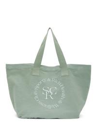 mintgrüne Shopper Tasche aus Segeltuch