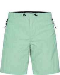 mintgrüne Shorts von Calvin Klein