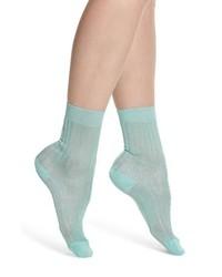 mintgrüne Socken