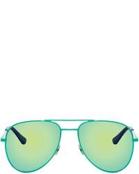 mintgrüne Sonnenbrille von Saint Laurent