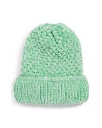 mintgrüne Strick Mütze