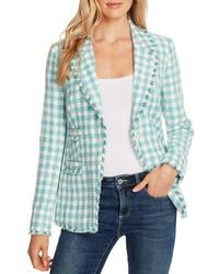 mintgrüne Tweed-Jacke
