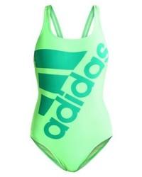 mintgrüner bedruckter Badeanzug von adidas