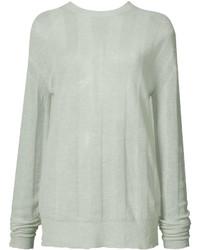 mintgrüner Oversize Pullover