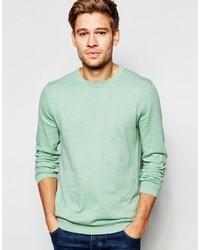 mintgrüner Pullover mit einem Rundhalsausschnitt von Esprit