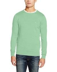 mintgrüner Pullover mit einem Rundhalsausschnitt von Tom Tailor