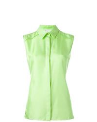 mintgrünes ärmelloses Hemd von Maison Margiela