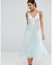 Mintgrünes Ausgestelltes Kleid von Asos