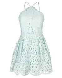 Mintgrünes Ausgestelltes Kleid von Chi Chi London Petite
