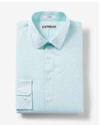 mintgrünes bedrucktes Businesshemd