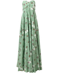 mintgrünes bedrucktes Seide Ballkleid von Valentino