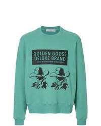 mintgrünes bedrucktes Sweatshirt