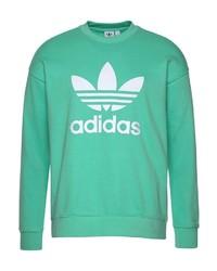mintgrünes bedrucktes Sweatshirt von adidas Originals