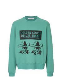 mintgrünes bedrucktes Sweatshirt von Golden Goose Deluxe Brand